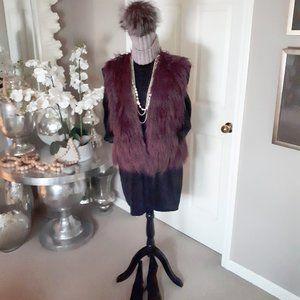 Jacob wine berry purple faux fur vest Size M/L